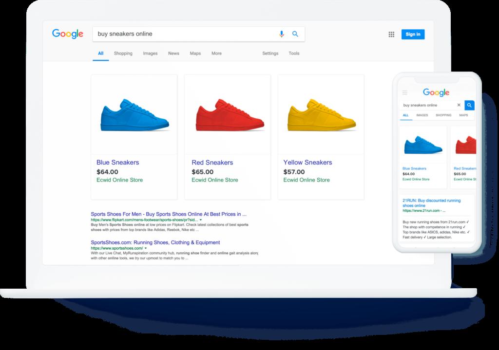 exemple de publicité Google ciblée
